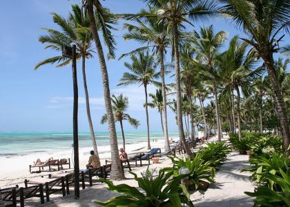 Stranden ved Karafuu Beach Resort