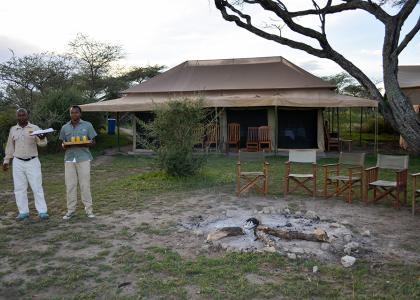 Der er god personlig service på en privat safari