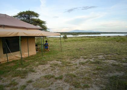 Fantastisk udsigt over Serengetis Savanne